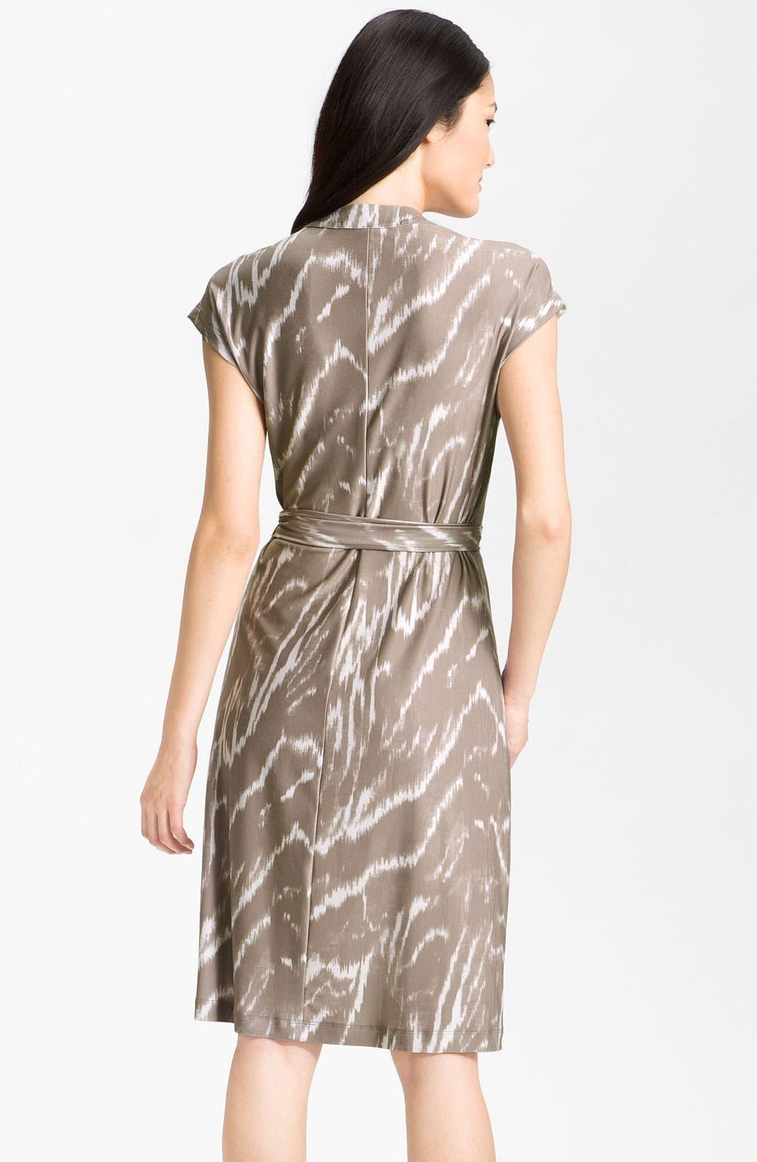 Alternate Image 2  - Alex & Ava Cap Sleeve Jersey Wrap Dress