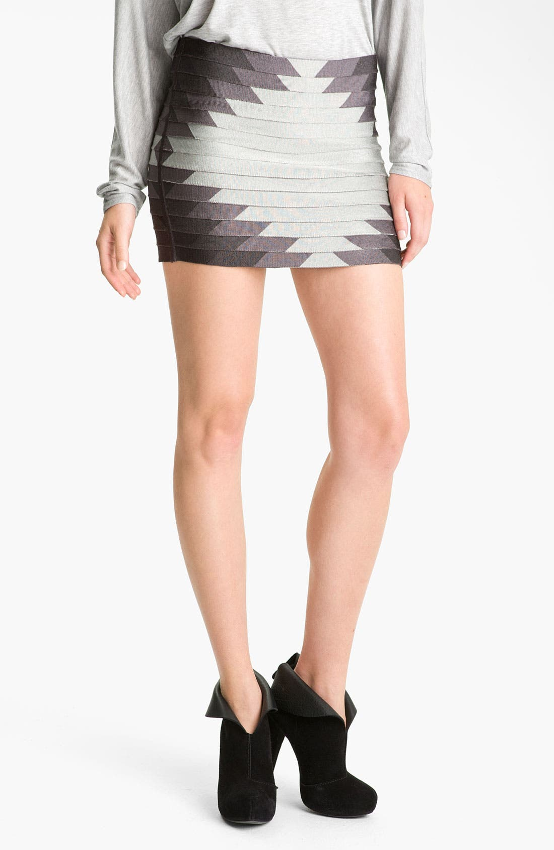 Alternate Image 1 Selected - Haute Hippie 'Aztec' Bandage Skirt