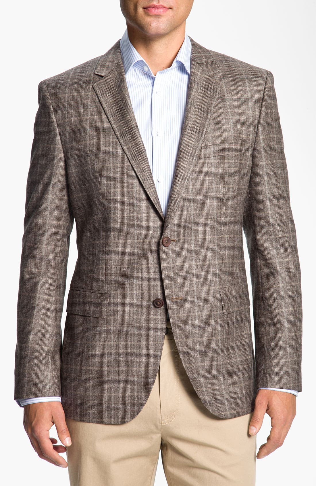 Main Image - BOSS Black 'Smith' Trim Fit Plaid Sportcoat