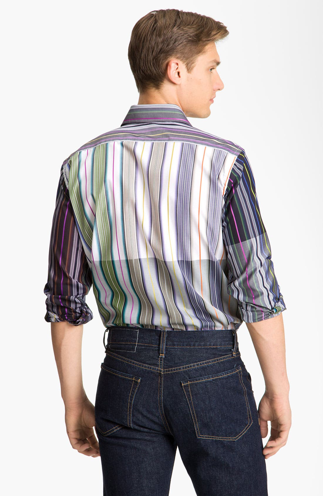 Alternate Image 3  - Etro Stripe Cotton Shirt