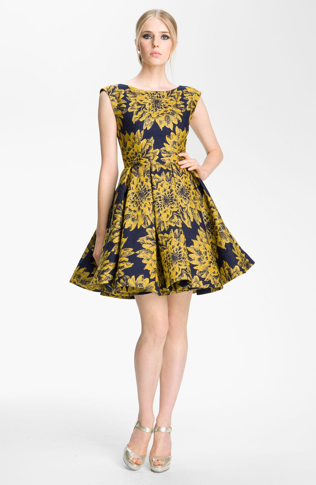 Main Image - Alice + Olivia 'Reese' Pleated Frock