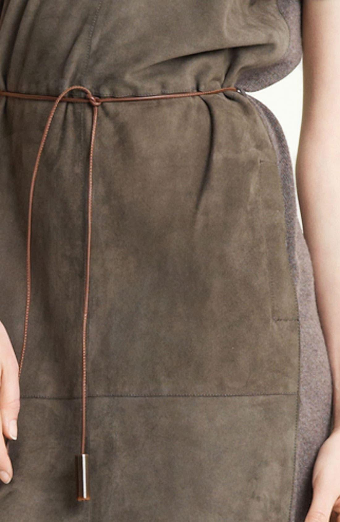Alternate Image 3  - Fabiana Filippi Belted Suede & Knit Dress