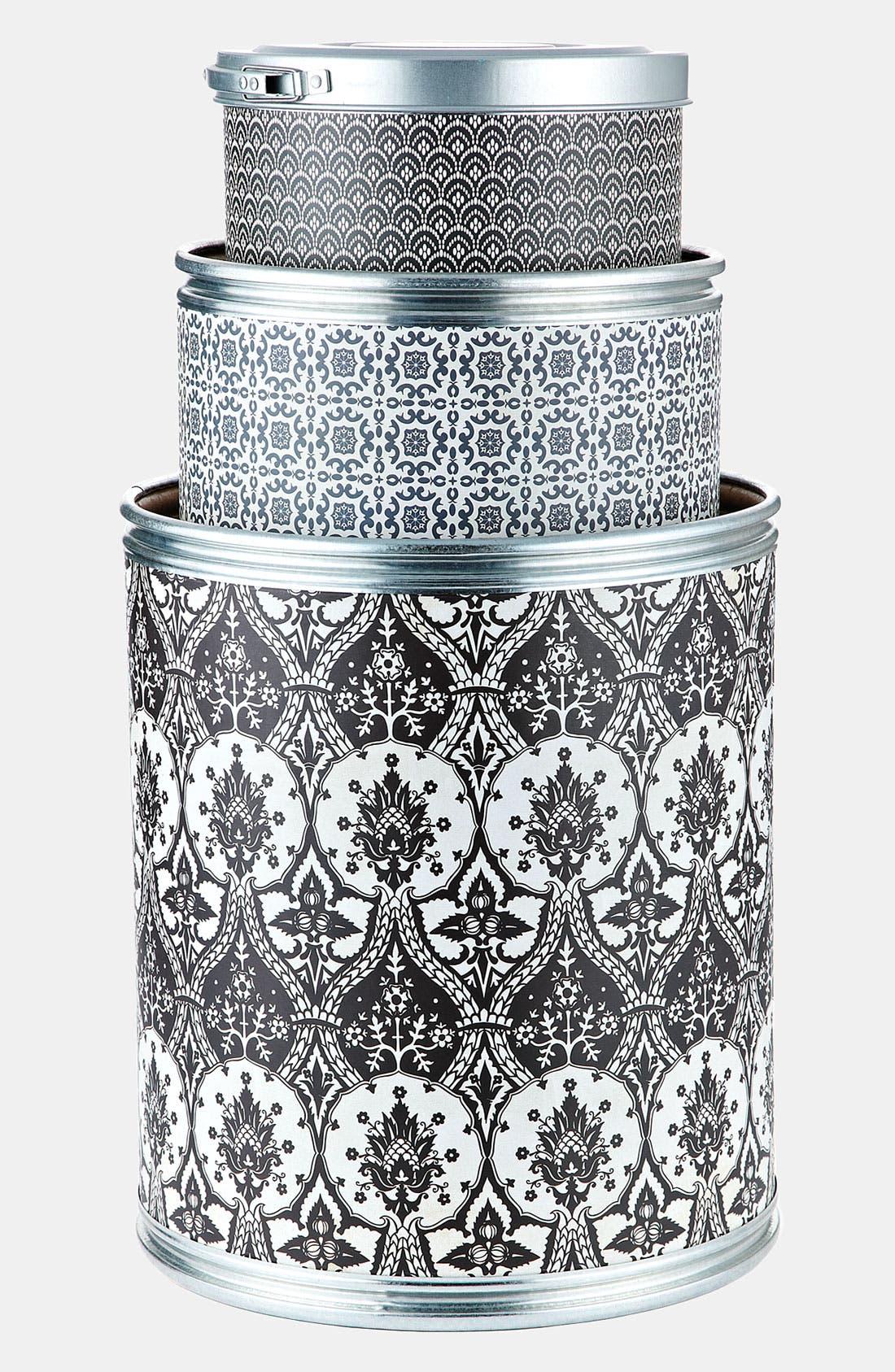 Main Image - Basic Grey 'Black Tie' Storage Barrels (Set of 3)