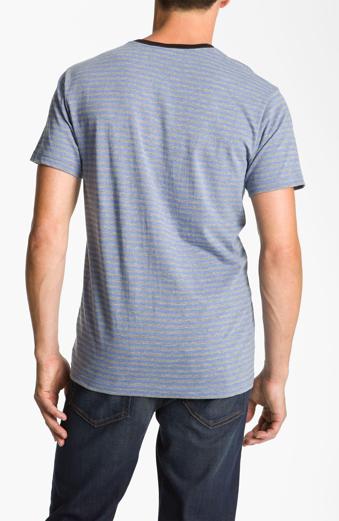 Alternate Image 2  - RVCA 'Grain' Trim Fit V-Neck T-Shirt