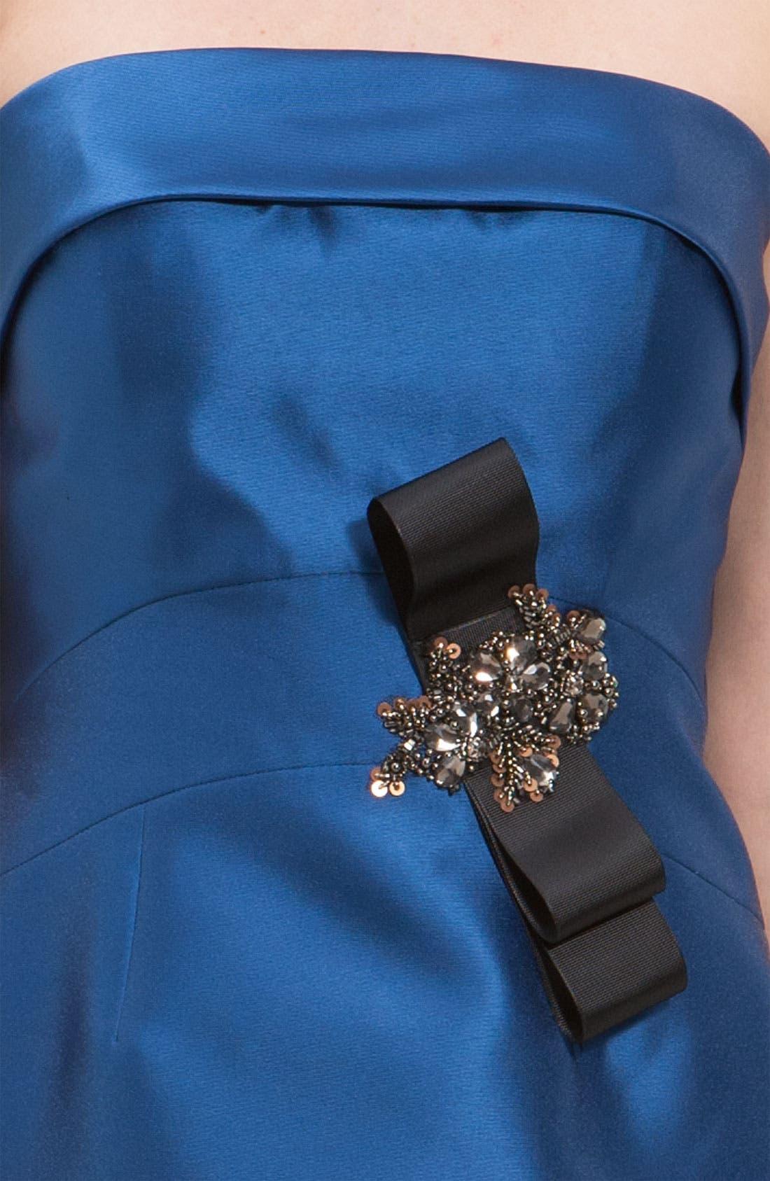 Alternate Image 3  - JS Collections Beaded Twill Strapless Sheath Dress & Jacket (Petite)