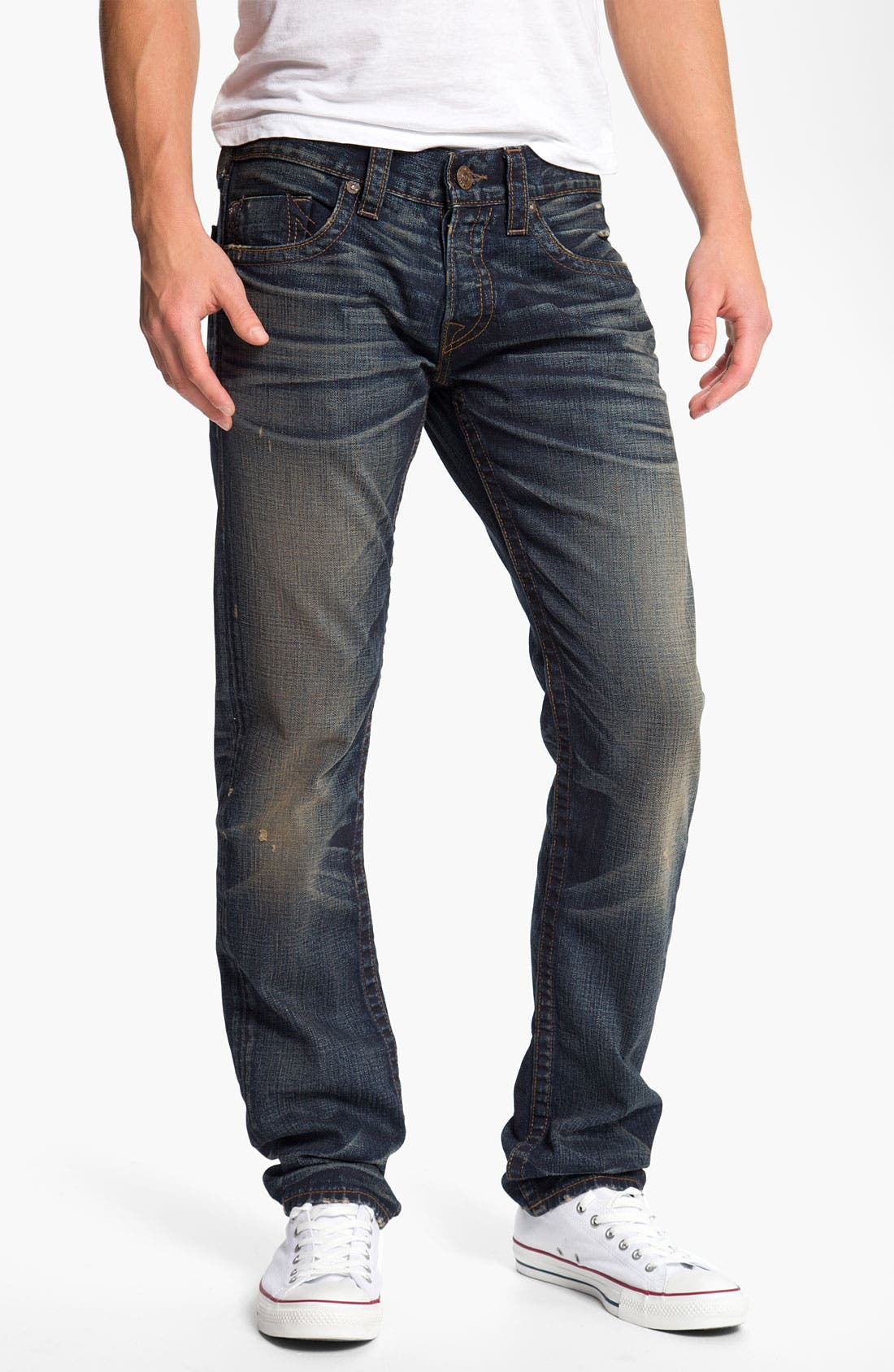 Alternate Image 2  - True Religion Brand Jeans 'Geno' Slim Straight Leg Jeans (Snyper)