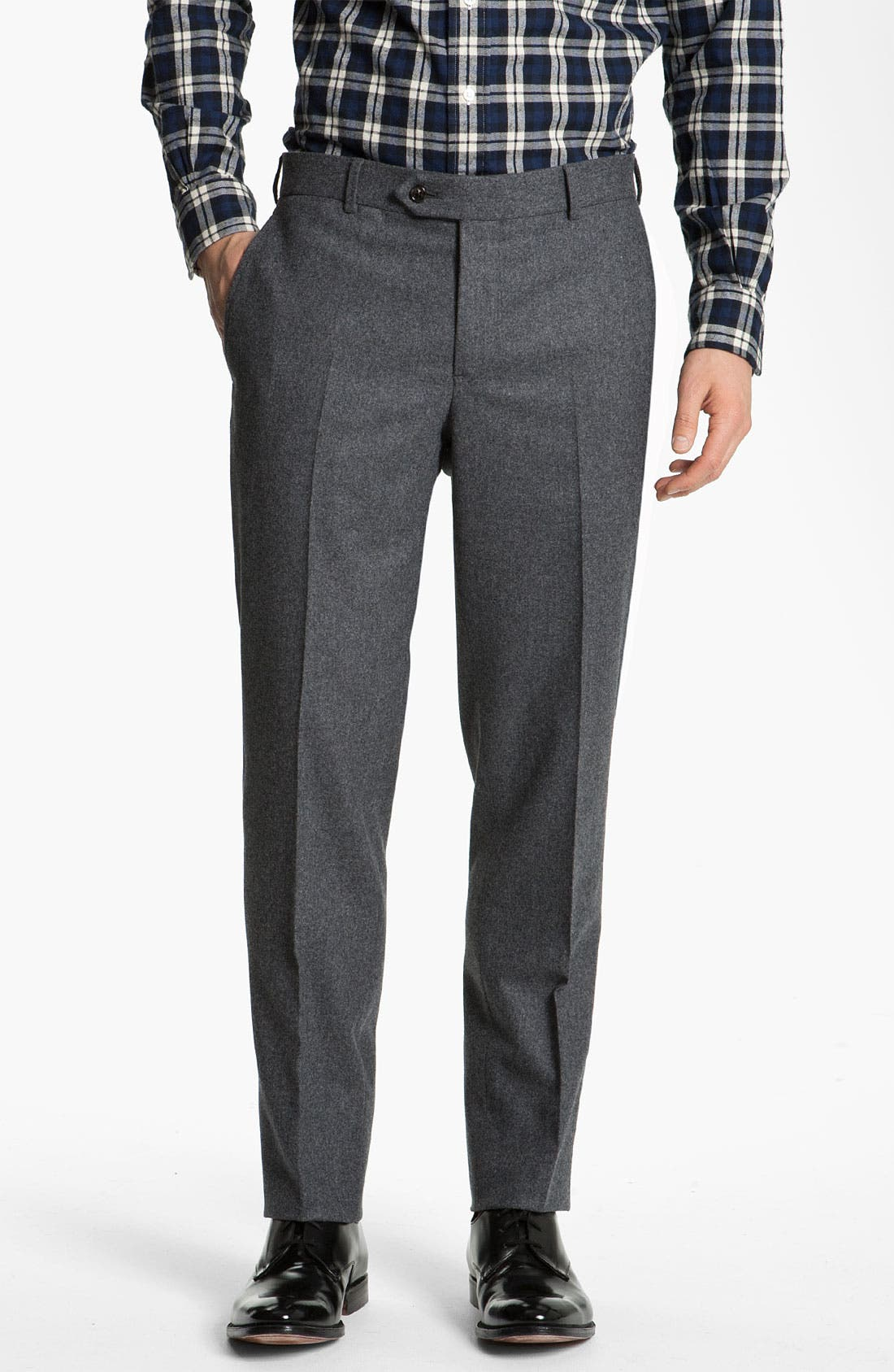 Alternate Image 1 Selected - Brooks Brothers by Jeffrey Wool Trousers