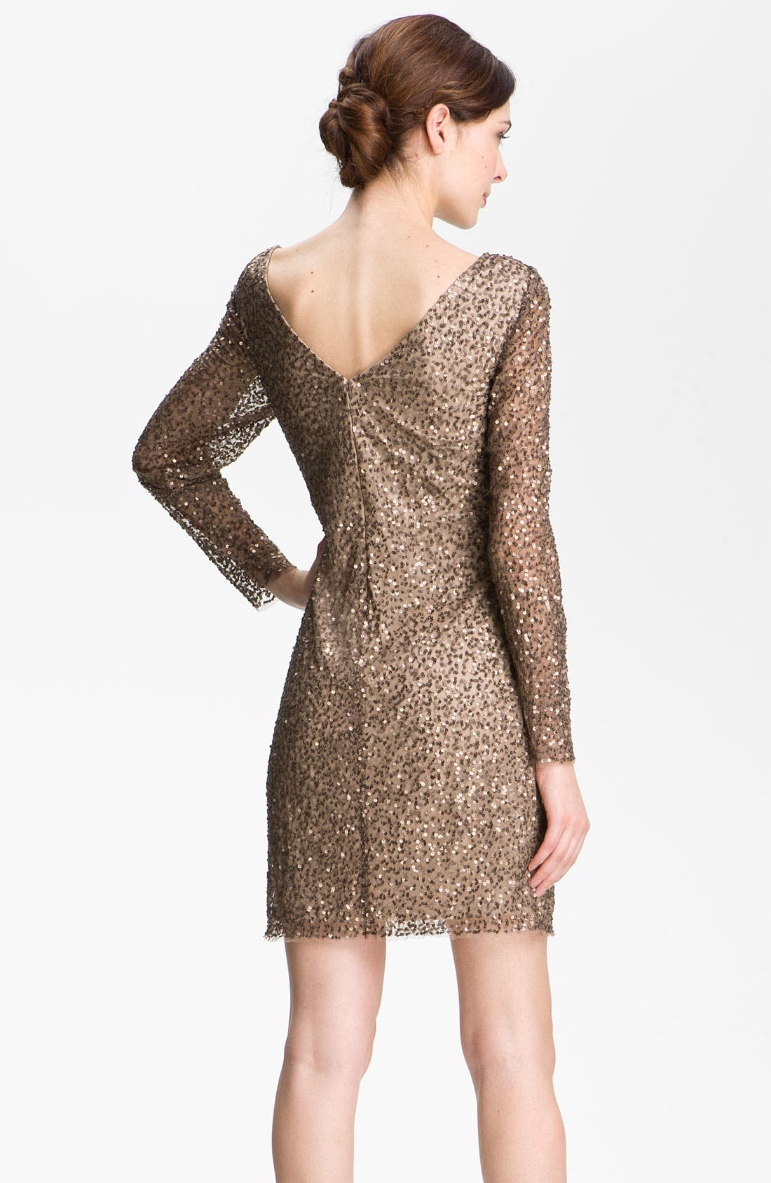 Alternate Image 2  - Adrianna Papell Sequin Shift Dress