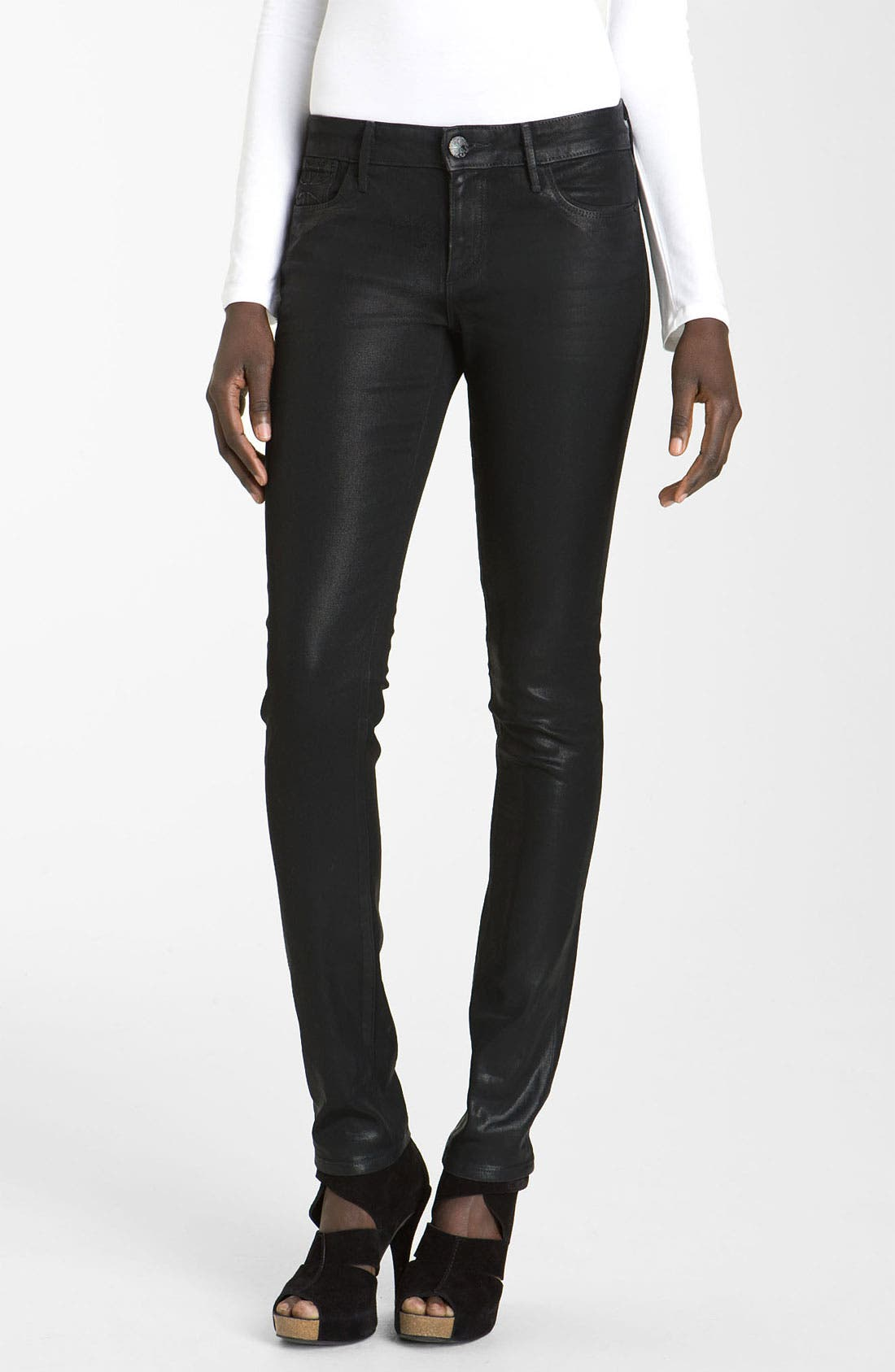 Main Image - Habitual 'Alice' Skinny Coated Stretch Jeans