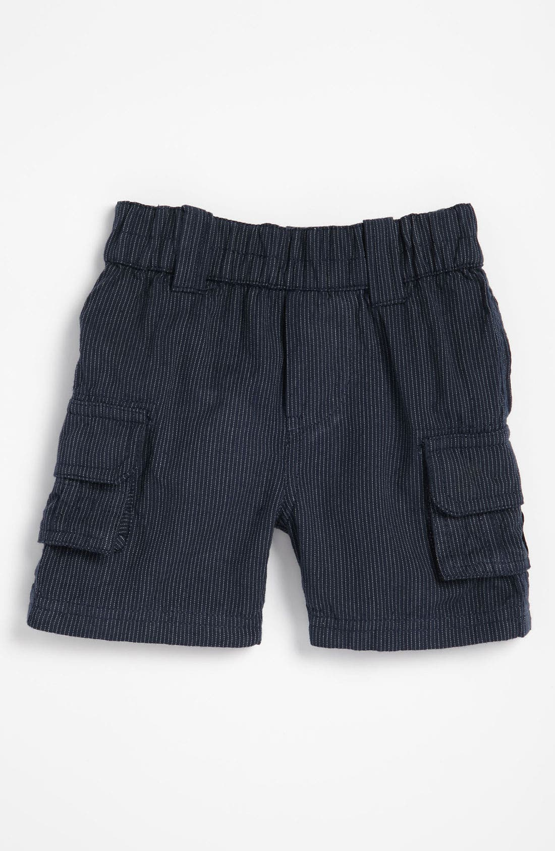 Main Image - Peek Pinstripe Shorts (Infant)