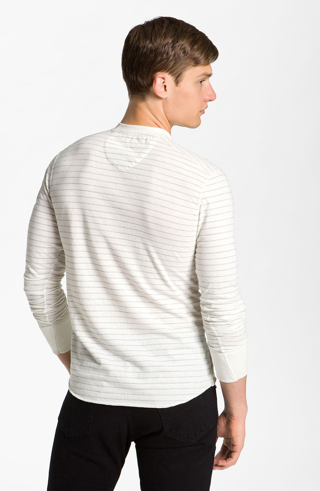 Alternate Image 2  - rag & bone Stripe Long Sleeve Henley