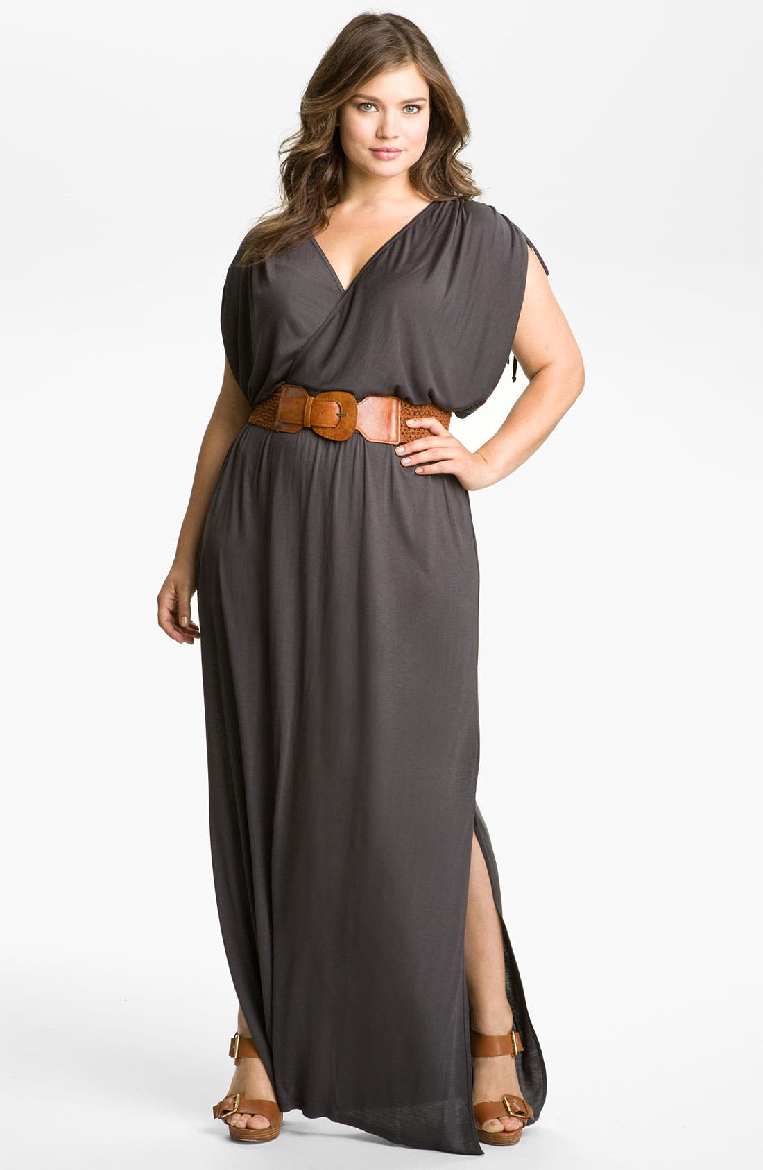 Alternate Image 1 Selected - Remain Belted Maxi Dress (Plus)