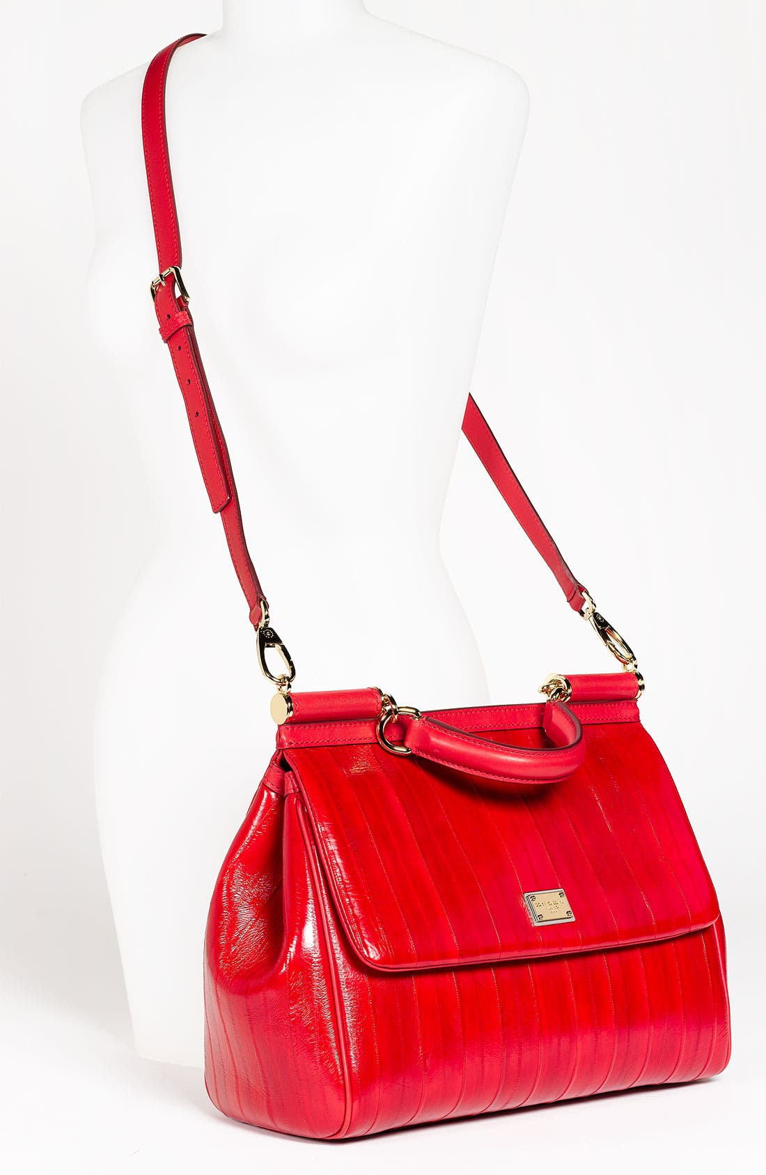 Alternate Image 2  - Dolce&Gabbana 'Miss Sicily' Eel & Leather Satchel