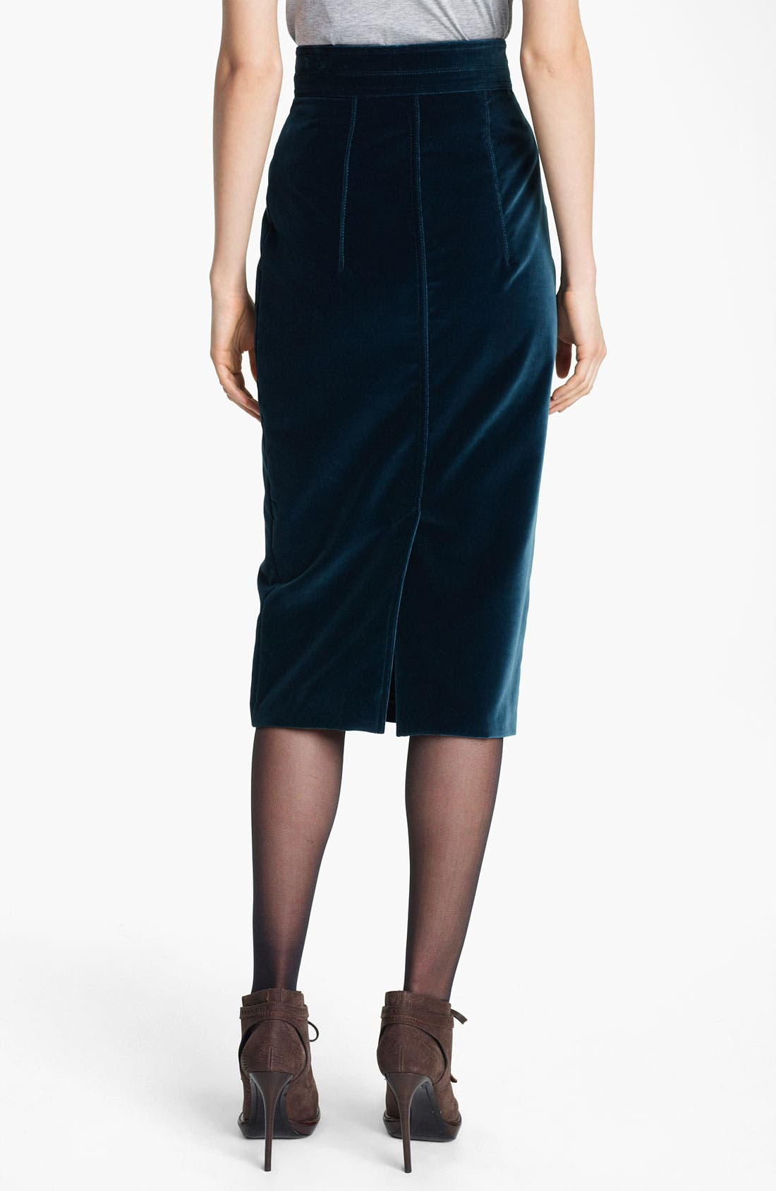Alternate Image 2  - Burberry Prorsum Velvet Pencil Skirt