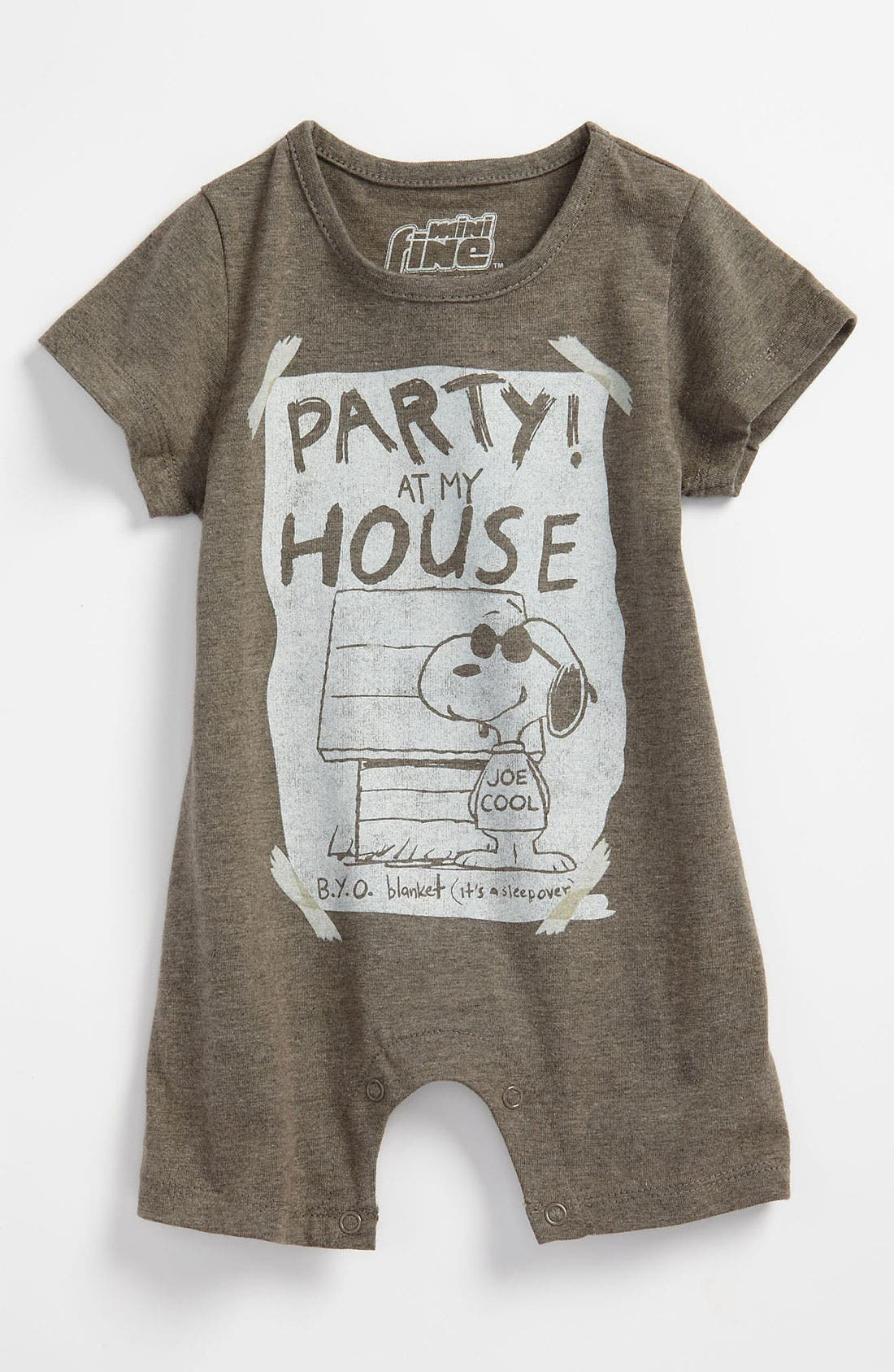 Alternate Image 1 Selected - Mighty Fine 'Party At My House' Romper (Infant)