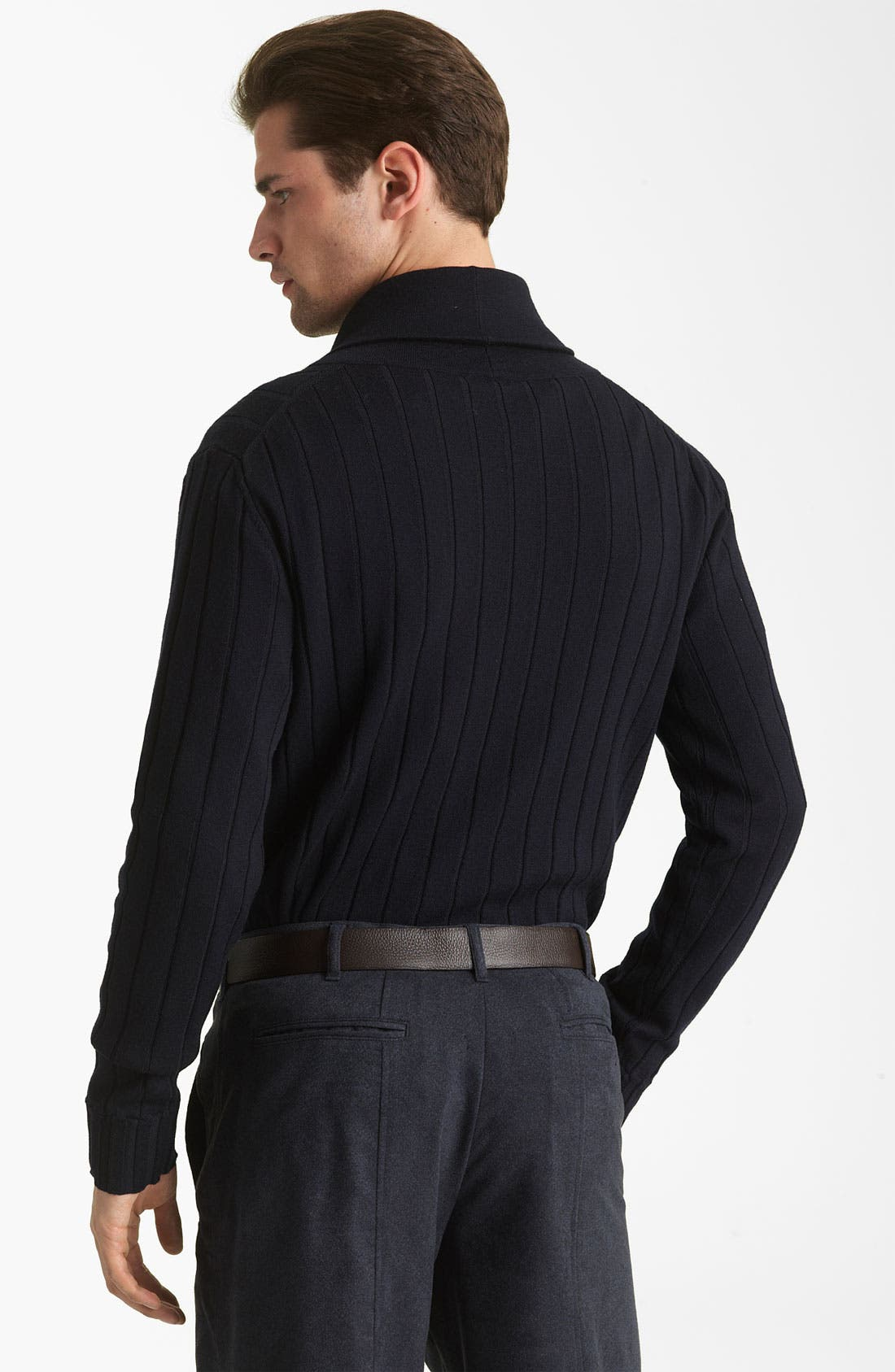 Alternate Image 2  - Armani Collezioni Wool Shawl Collar Sweater