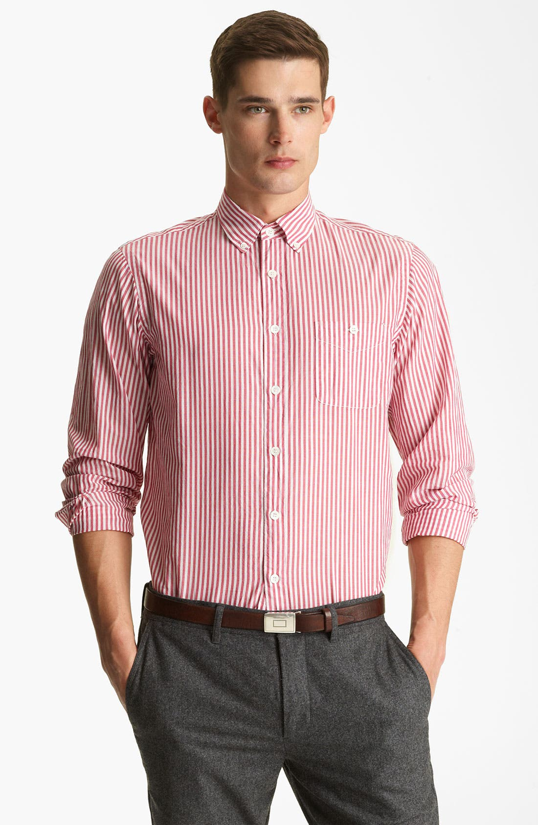 Alternate Image 1 Selected - Todd Snyder Stripe Sport Shirt