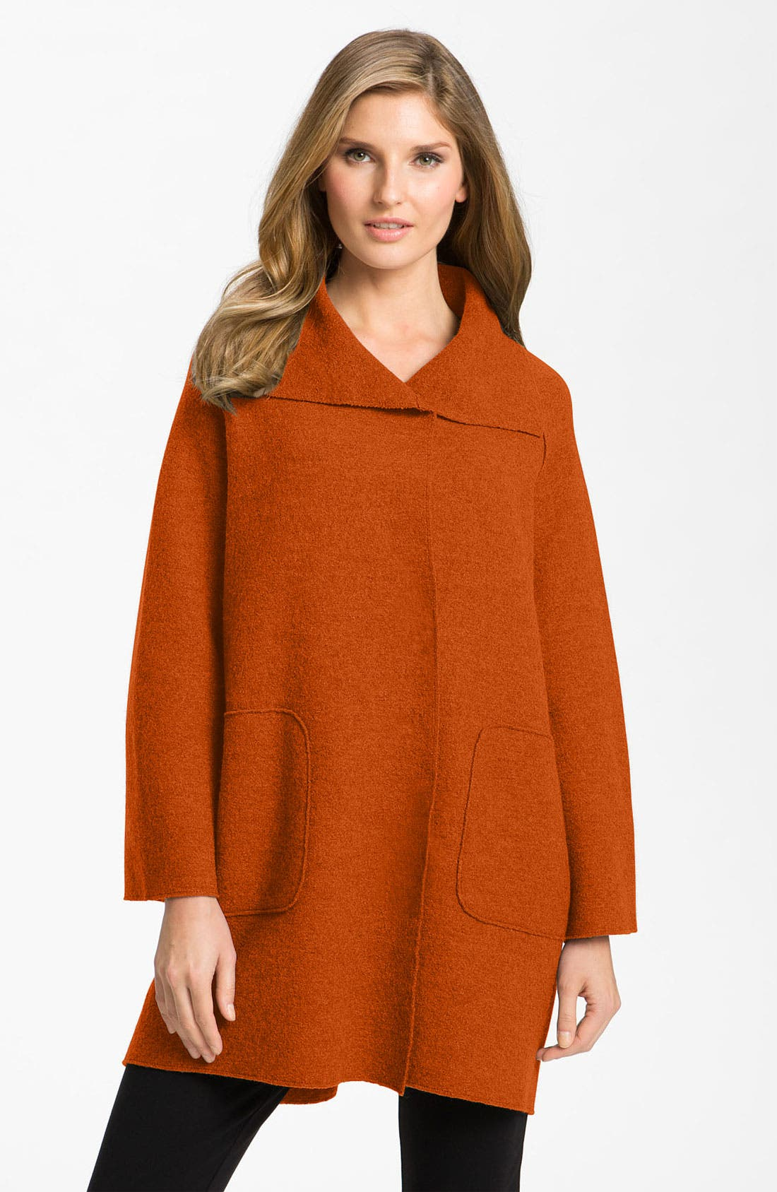 Alternate Image 1 Selected - Eileen Fisher Boiled Wool Topper