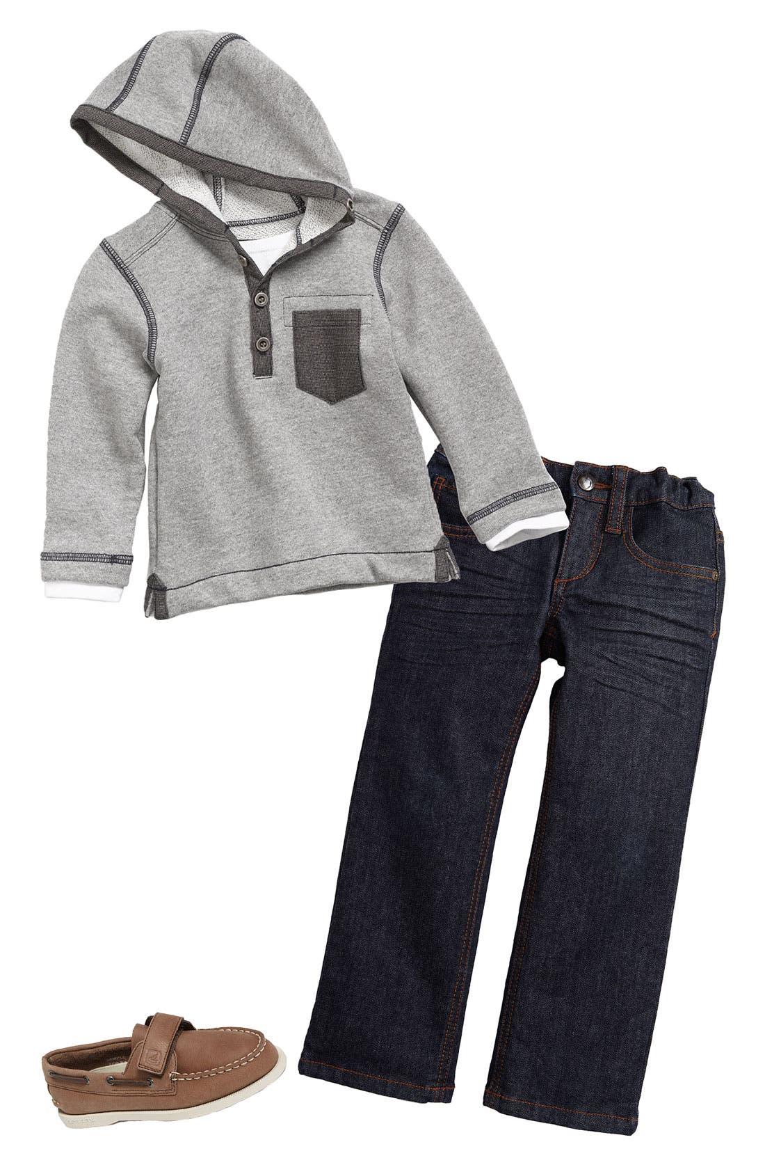 Alternate Image 1 Selected - Sovereign Code Hoodie & Joe's Skinny Jeans (Toddler)
