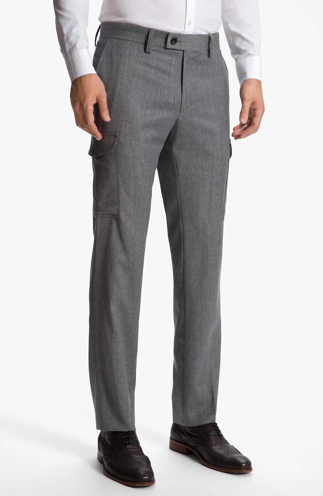 Alternate Image 1 Selected - BOSS Black 'Trap' Wool Cargo Pants