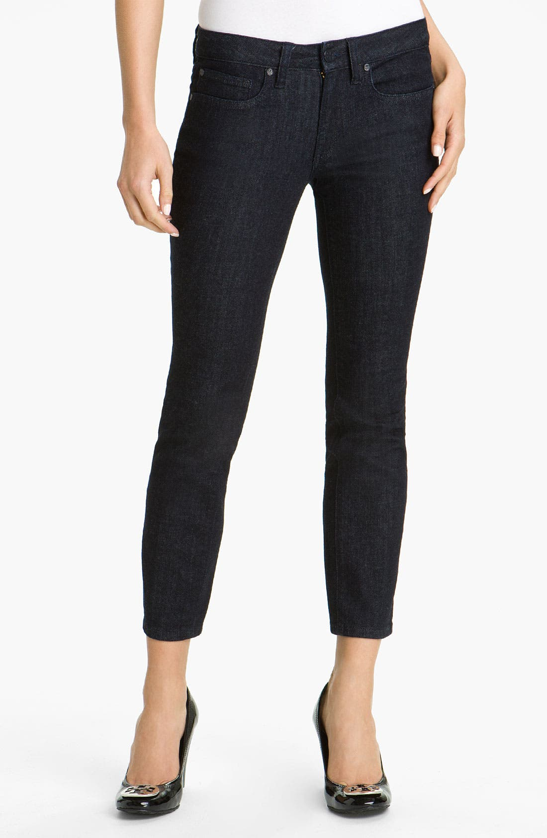 Main Image - Tory Burch Crop Skinny Jeans (Online Exclusive)