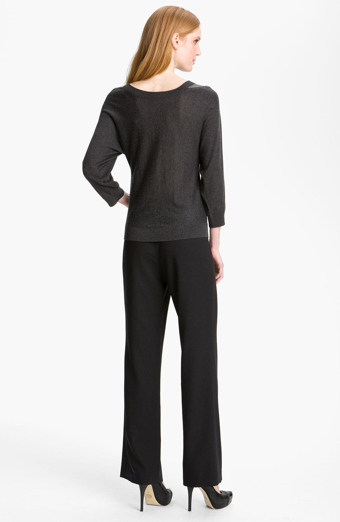 Alternate Image 5  - Magaschoni Stretch Wool Blend Pants