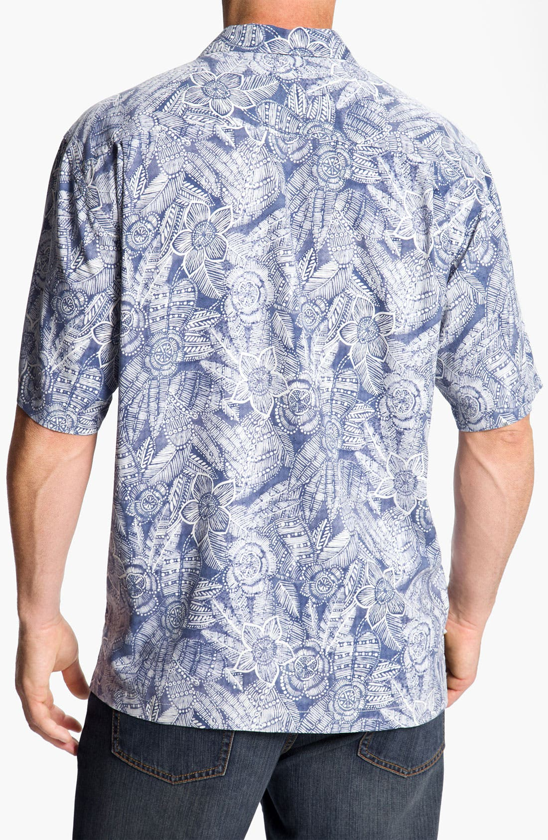 Alternate Image 2  - Tommy Bahama 'Bou-Teak Floral' Silk Campshirt