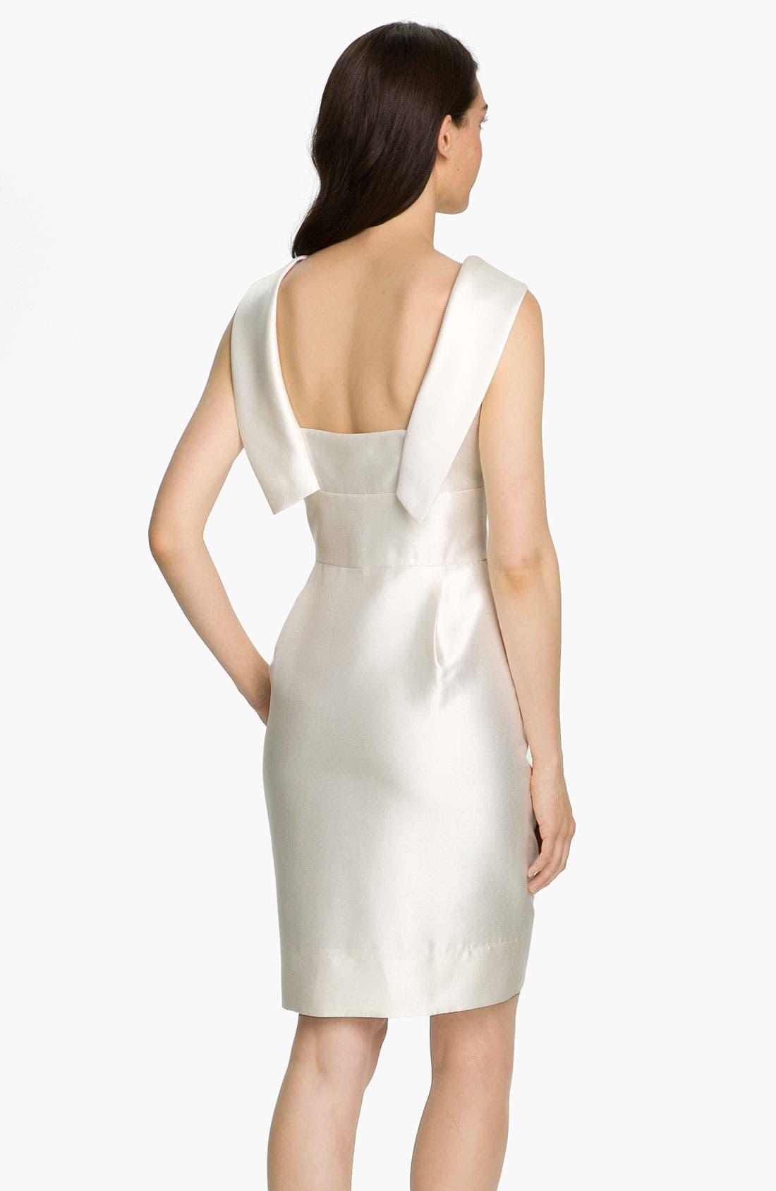 Alternate Image 2  - Eliza J Cowl Collar Mikado Woven Dress