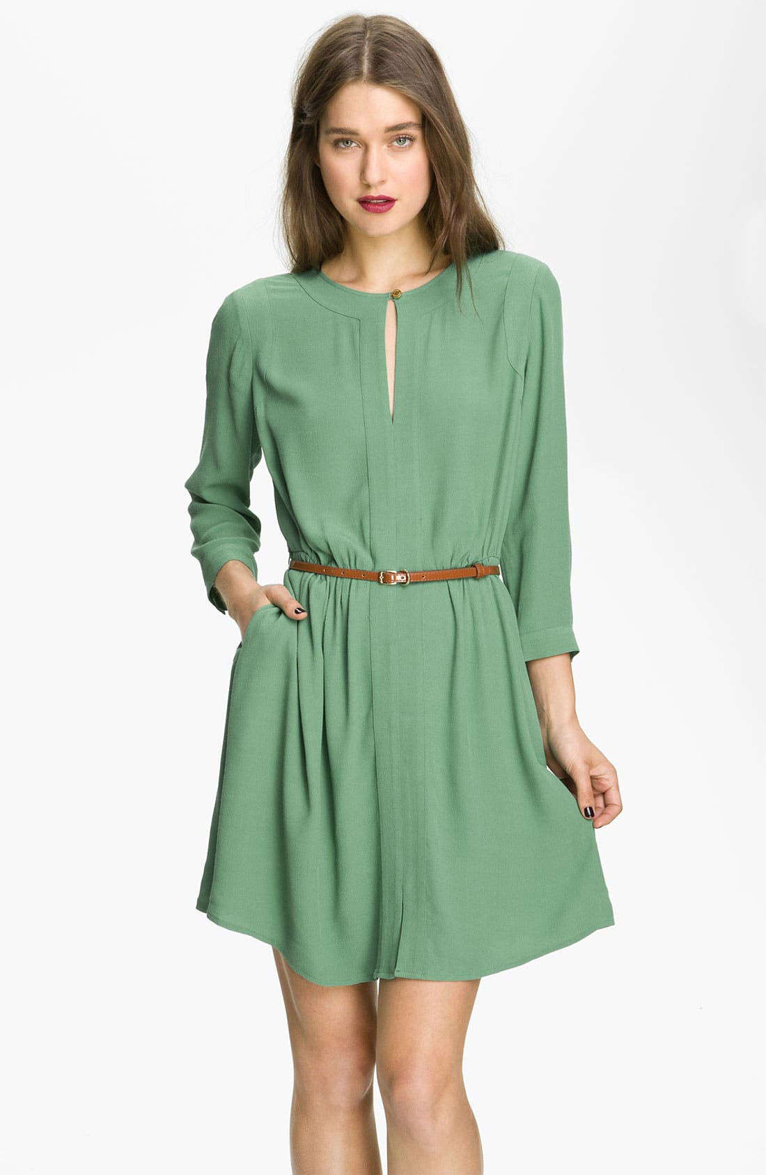 Main Image - Juicy Couture Belted Crepe Dress
