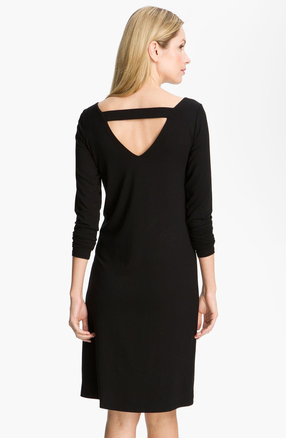 Alternate Image 2  - Eileen Fisher V-Back Jersey Dress