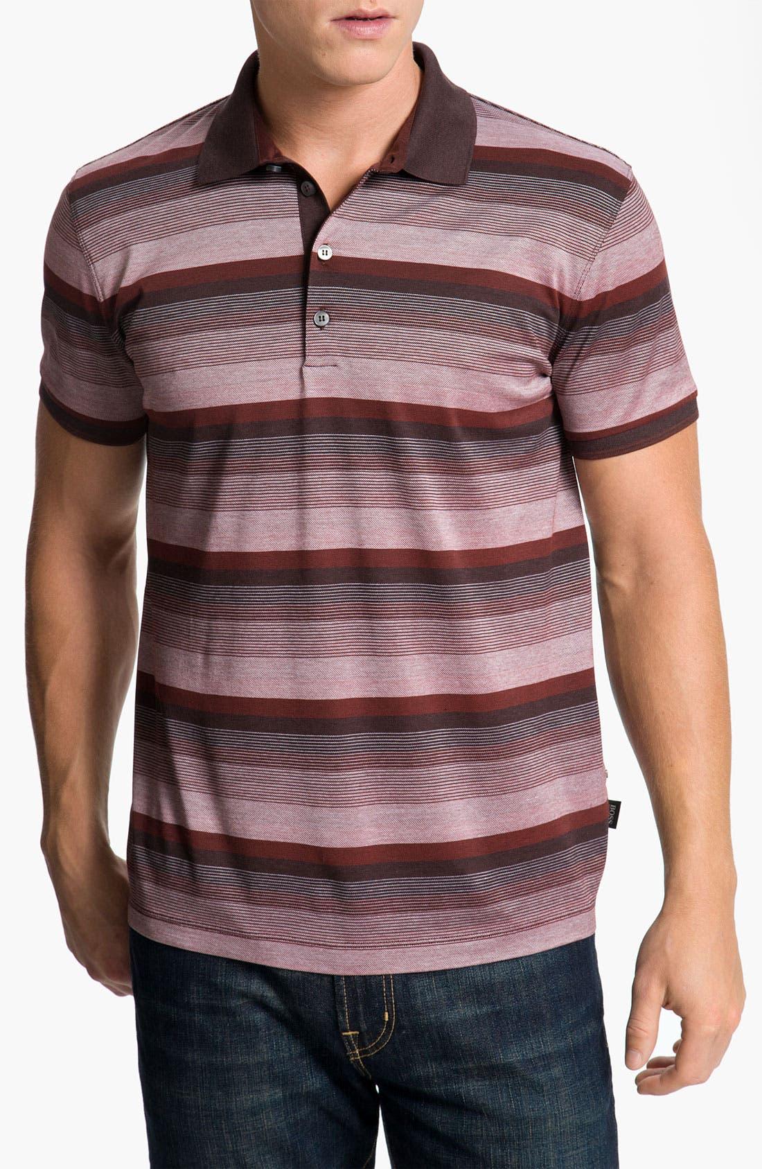 Alternate Image 1 Selected - BOSS Black 'Fino 26' Regular Fit Polo