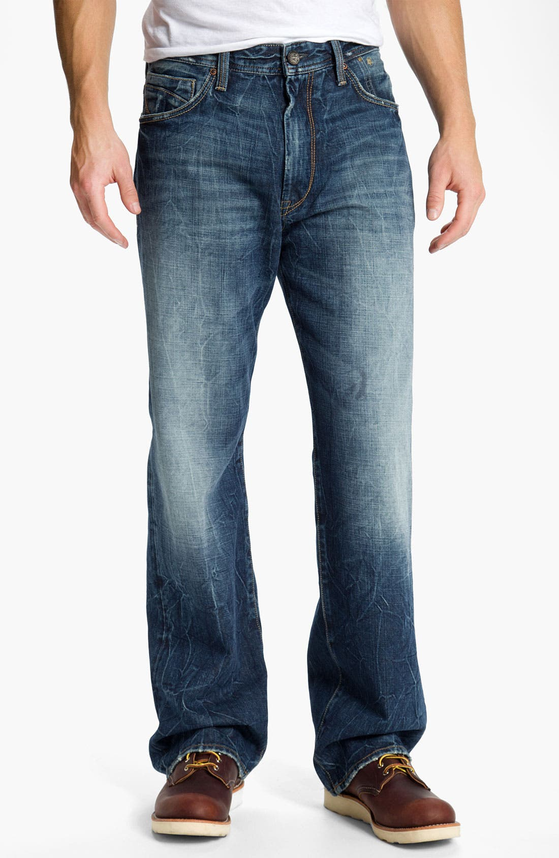Alternate Image 2  - Mavi Jeans 'Max' Relaxed Straight Leg Jeans (Deep American Cashmere)