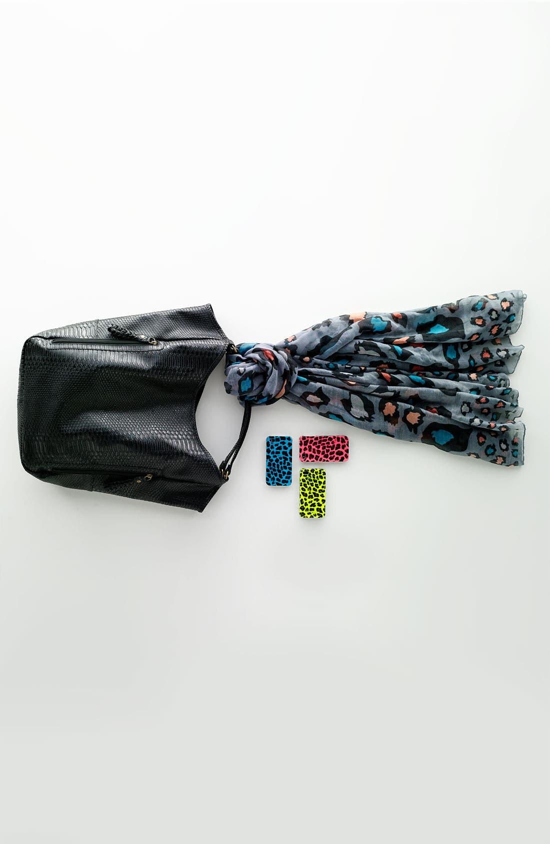 Alternate Image 5  - Lulu Snake Embossed Tote Bag