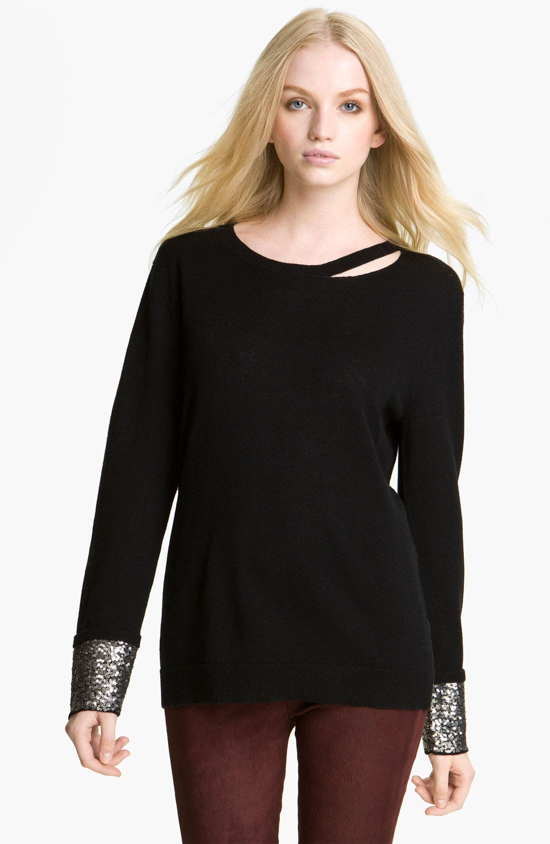 Main Image - Zadig & Voltaire 'Cygne' Sequin Cuff Sweater