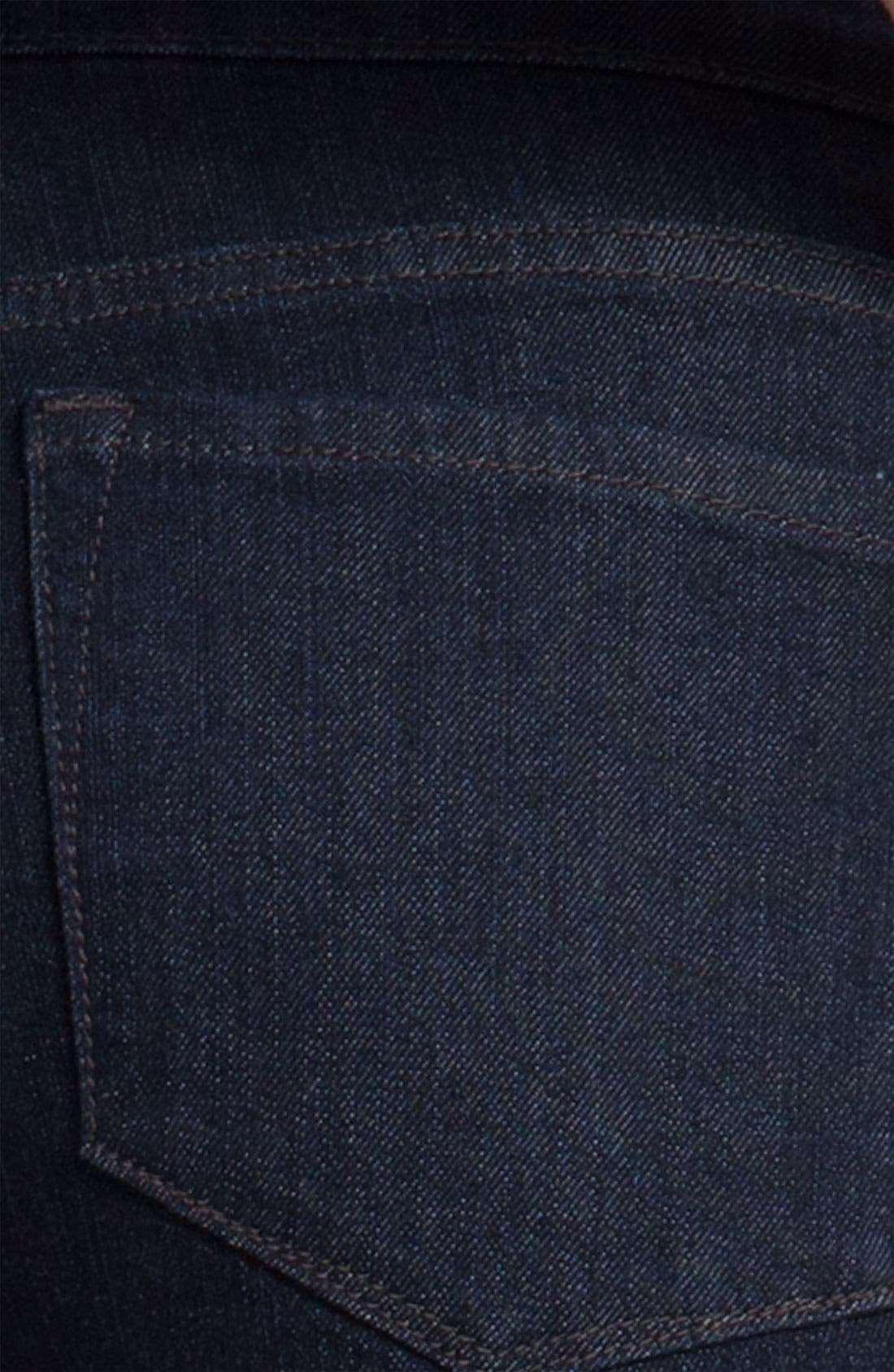 Alternate Image 3  - NYDJ 'Barbara' Stretch Bootcut Jeans (Dark Enzyme) (Petite)