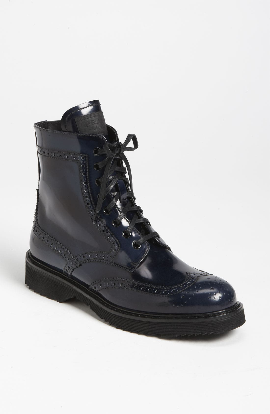 Alternate Image 1 Selected - Prada Spazzolato Combat Boot