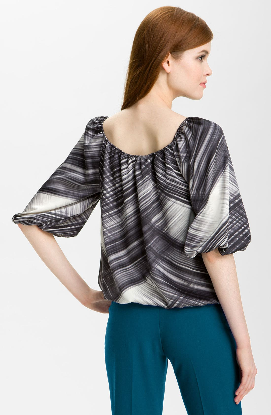 Alternate Image 2  - Vince Camuto 'Brushstrokes' Peasant Blouse (Online Exclusive)