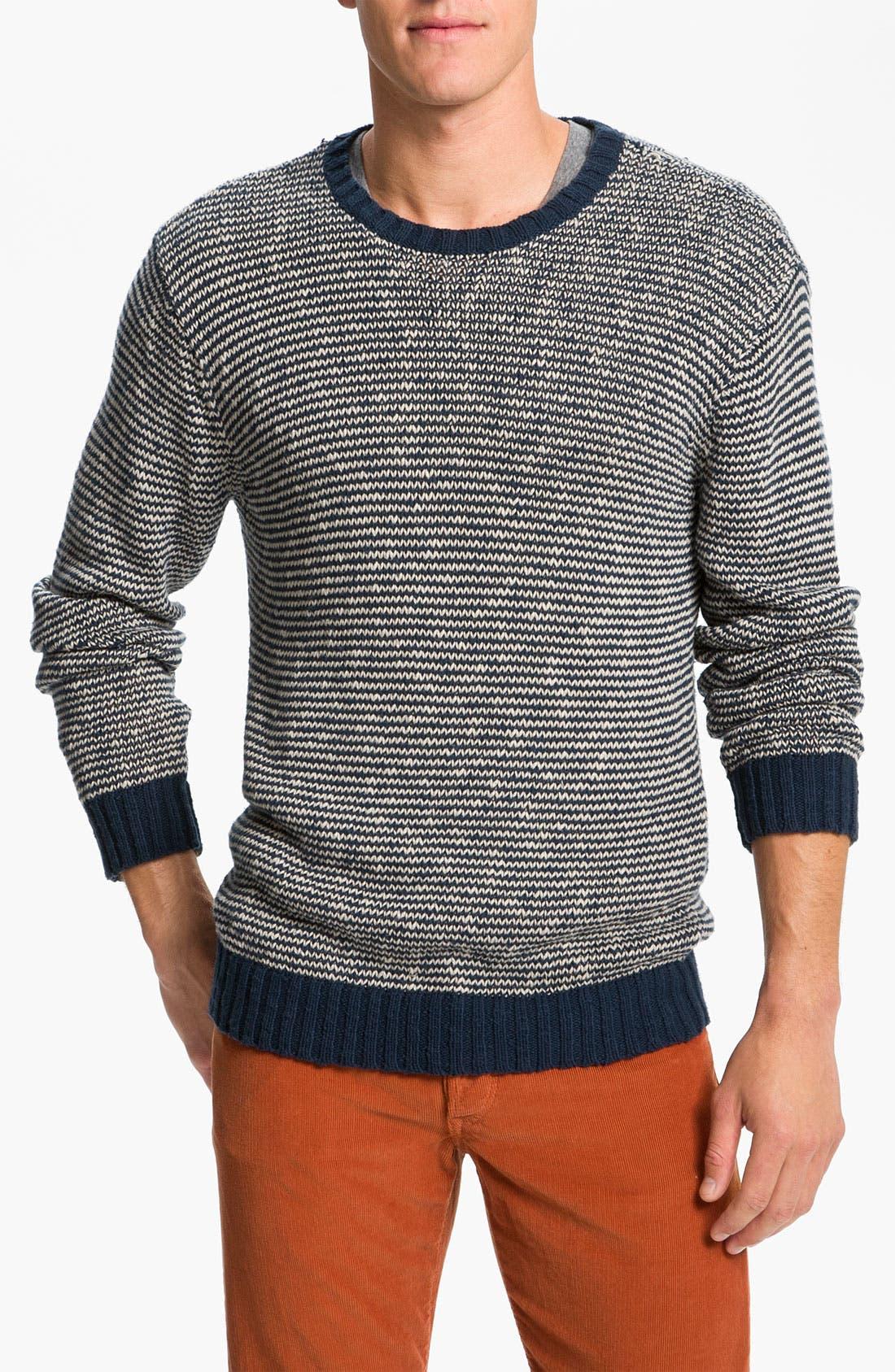 Main Image - VSTR 'Saltie' Stripe Crewneck Sweater