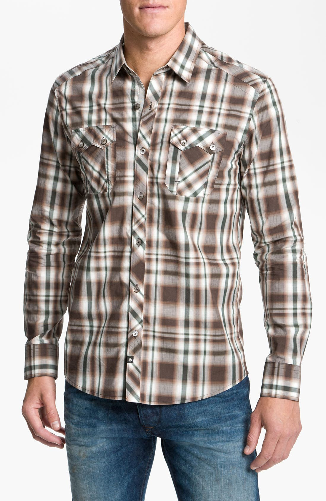 Alternate Image 1 Selected - 7 Diamonds Plaid Woven Shirt