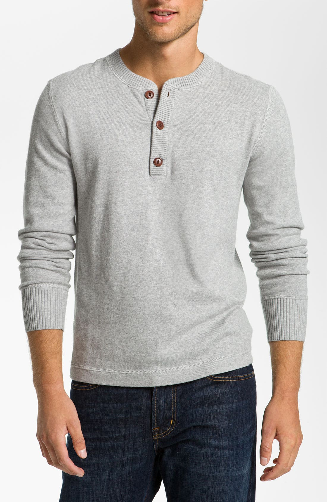 Alternate Image 1 Selected - Façonnable Cotton & Cashmere Knit Henley