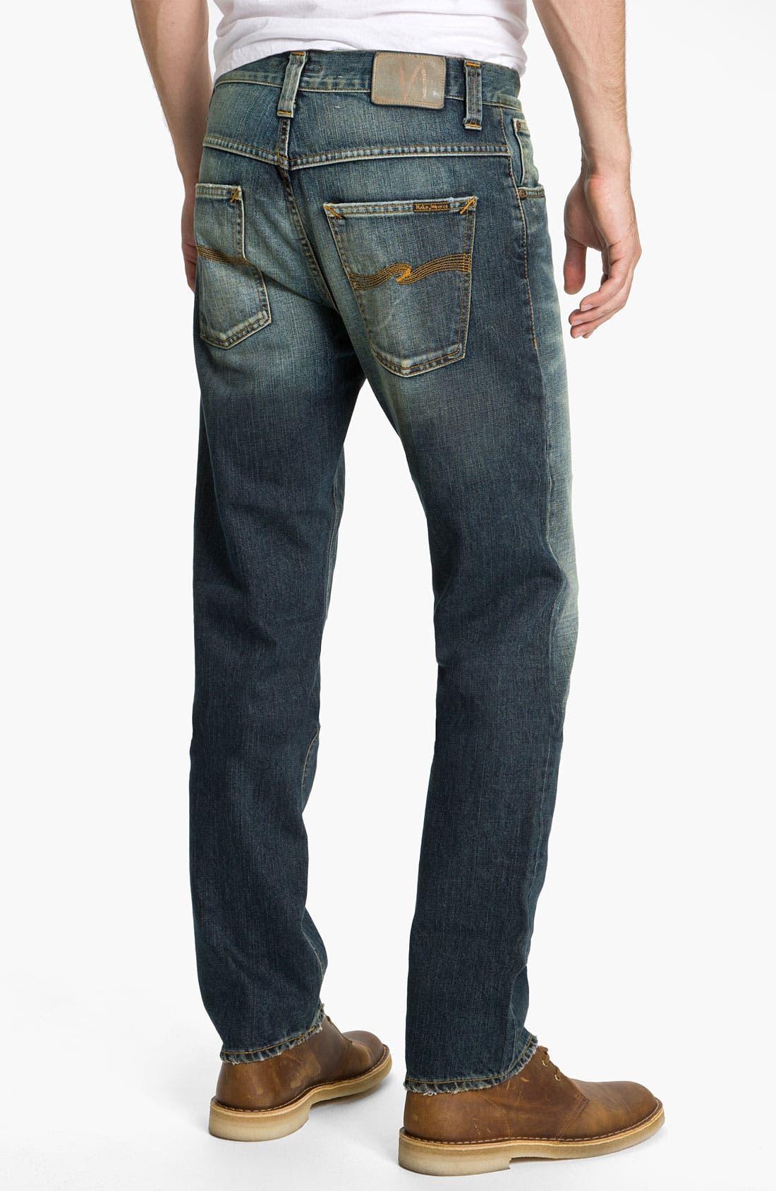 Alternate Image 1 Selected - Nudie 'Hank Rey' Straight Leg Jeans (Organic Used Favorite)