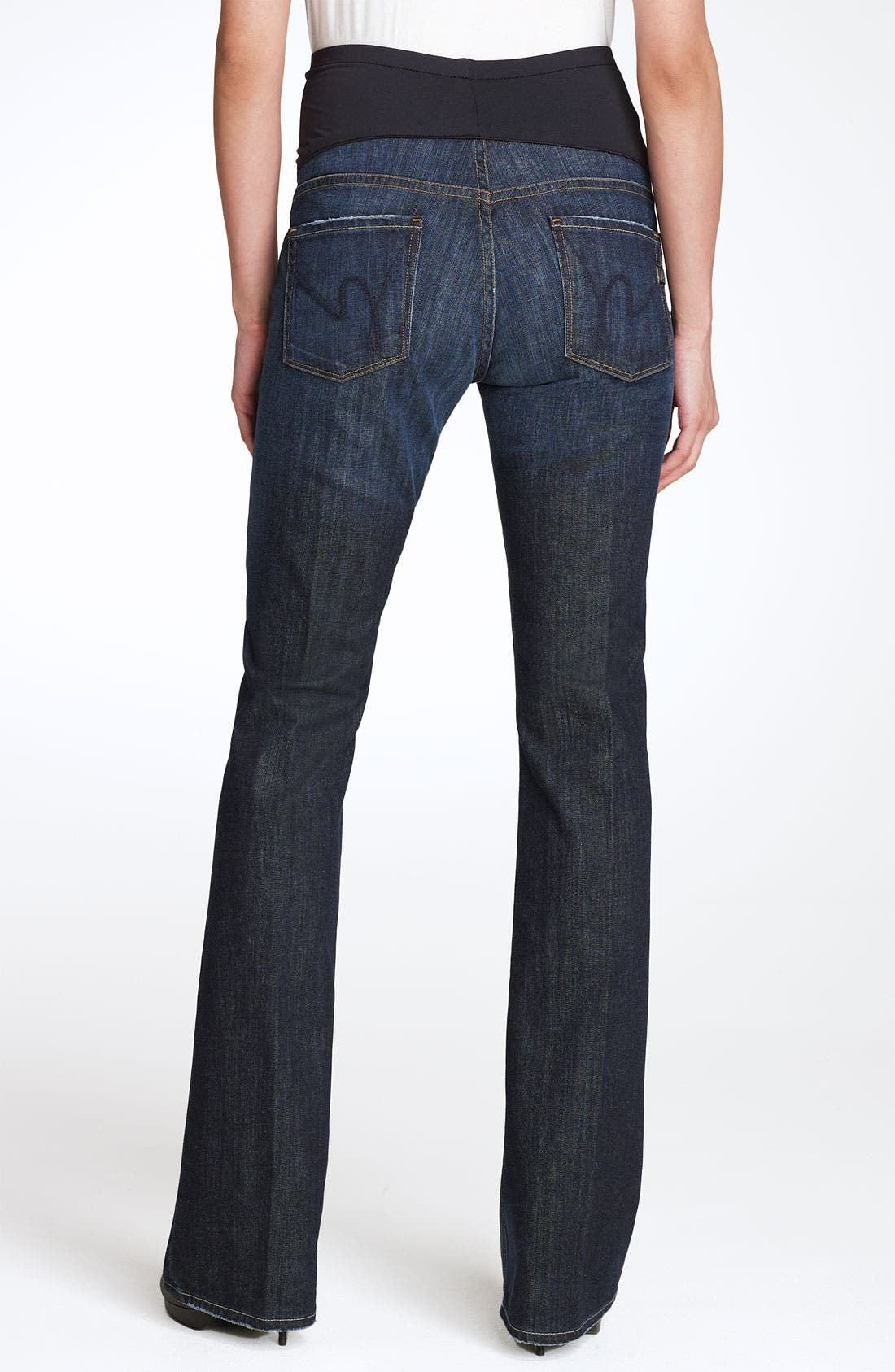 Alternate Image 2  - Citizens of Humanity 'Kelly' Maternity Bootcut Stretch Jeans (New Pacific Blue)