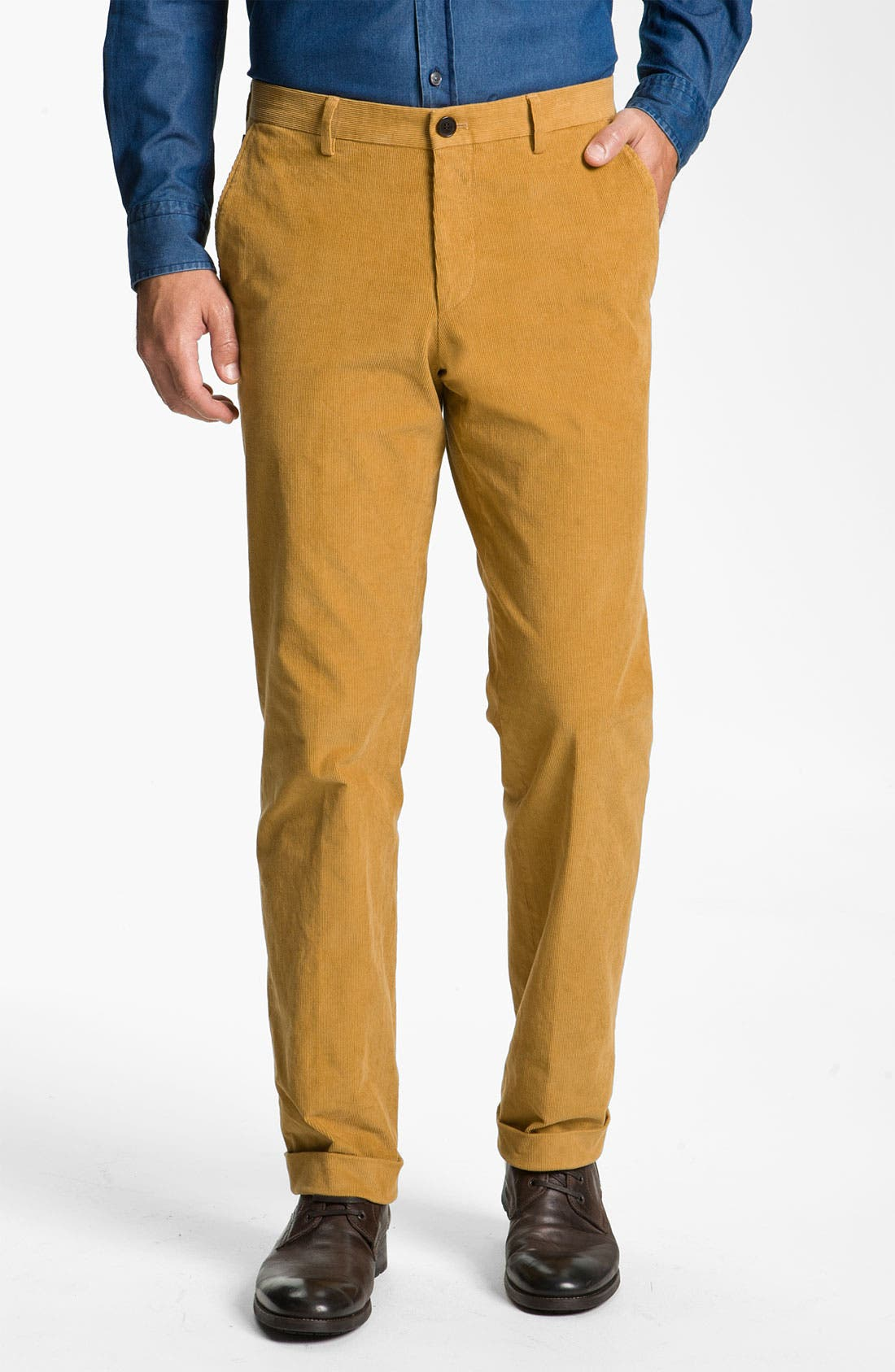 Alternate Image 1 Selected - BOSS Black 'Shap' Corduroy Trousers