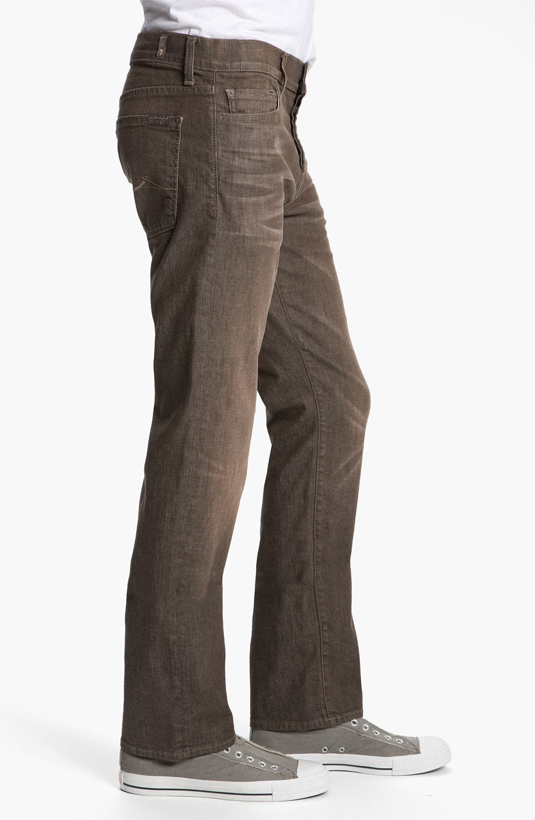 Alternate Image 3  - 7 For All Mankind® Standard Straight Leg Jeans (Kings Canyon)
