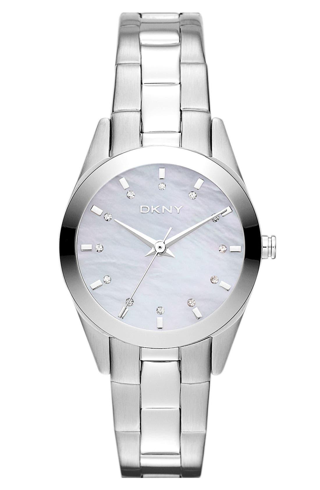 Alternate Image 1 Selected - DKNY Round Bracelet Watch