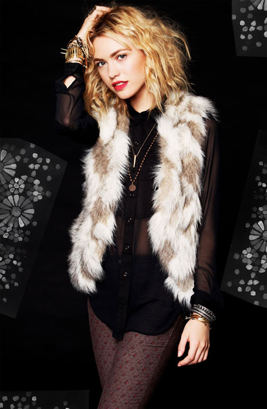 Alternate Image 5  - Free People Faux Fur Vest