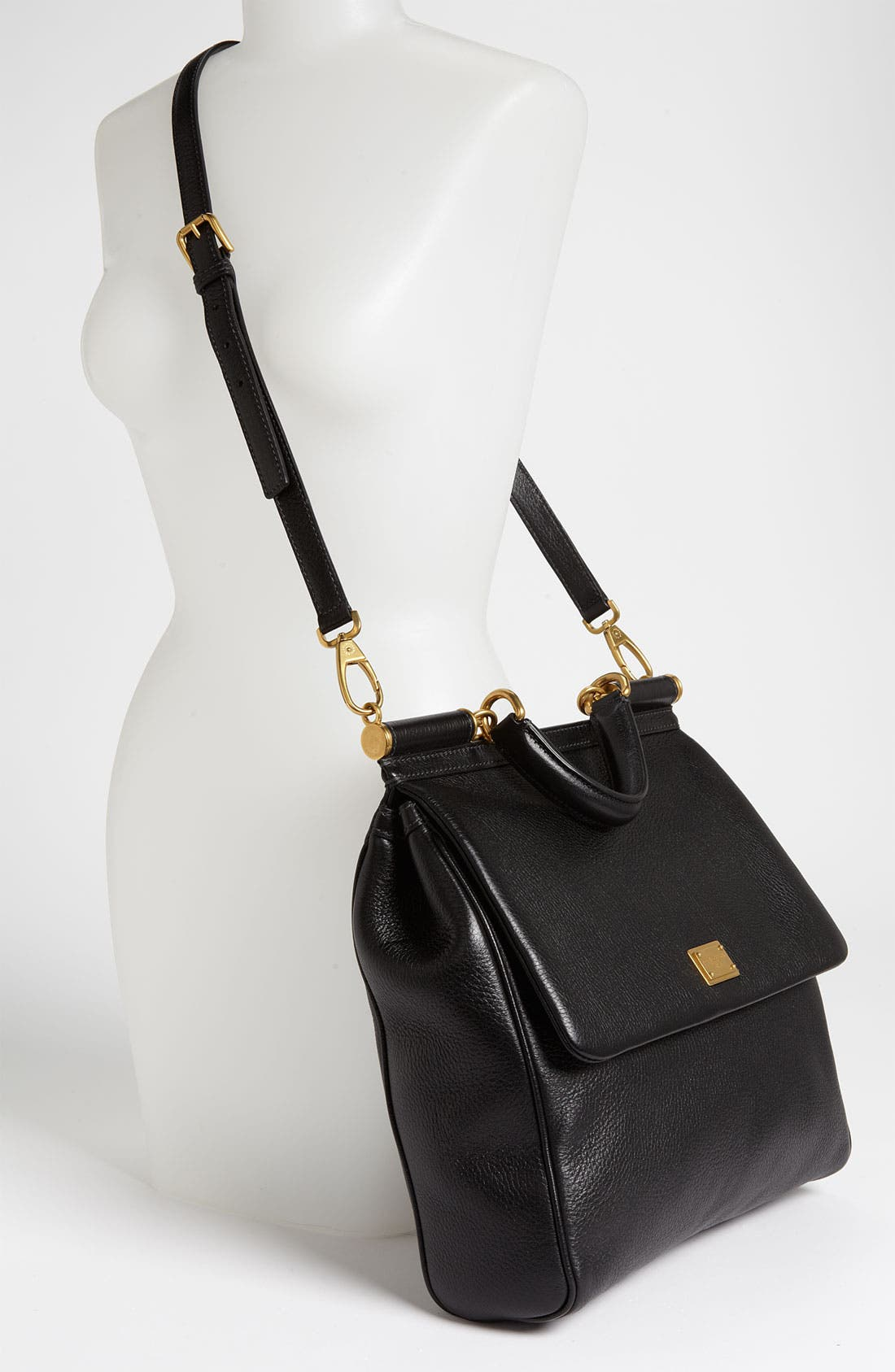 Alternate Image 2  - Dolce&Gabbana 'Flat Miss Sicily - Large' Leather Satchel