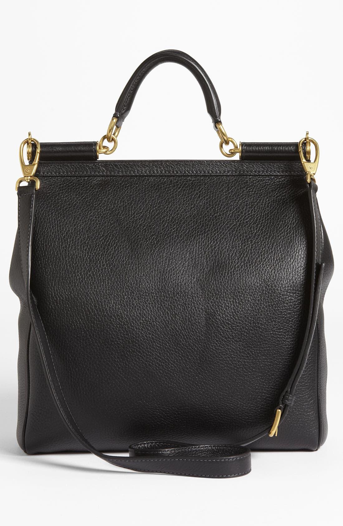 Alternate Image 4  - Dolce&Gabbana 'Flat Miss Sicily - Large' Leather Satchel