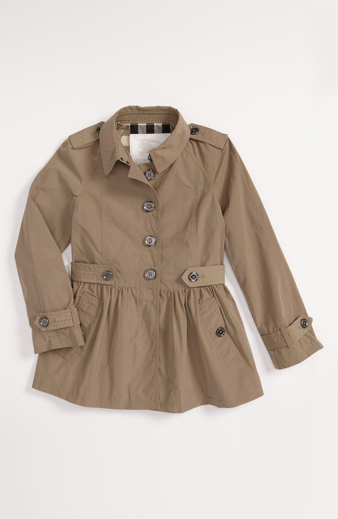 Alternate Image 1 Selected - Burberry Skirted Trench Coat (Little Girls & Big Girls)