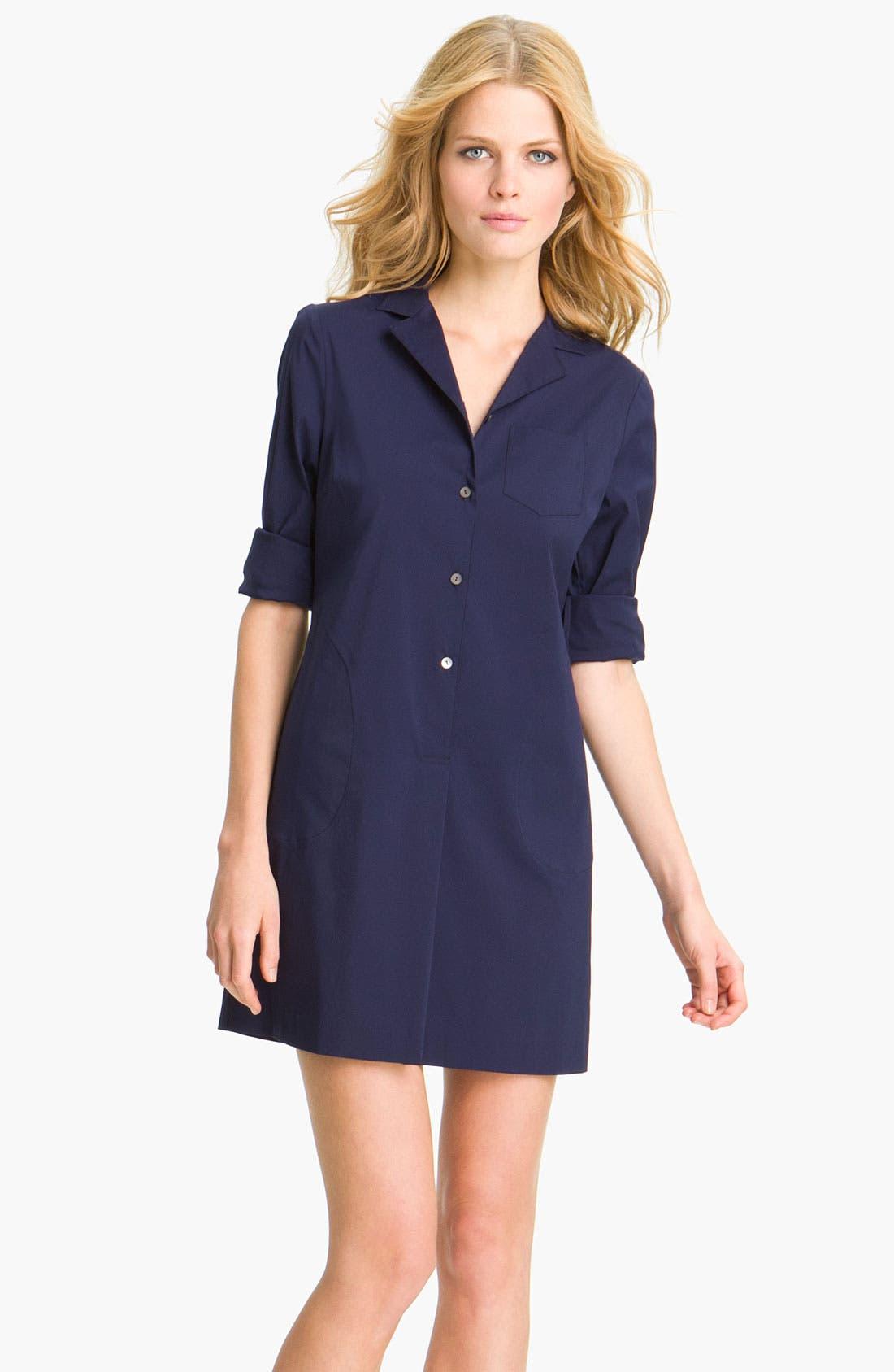 Main Image - Theory 'Madlaina - Luxe' Shirtdress